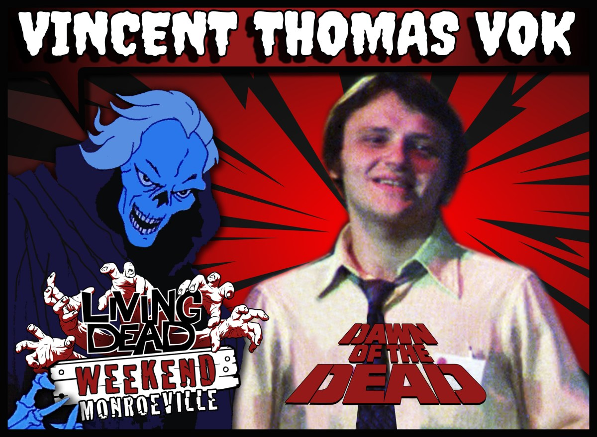 Vincent Thomas Vok DAWN OF THE DEAD guestLiving Dead Weekend: Monroeville June 14-16, 2019 WGON TV News