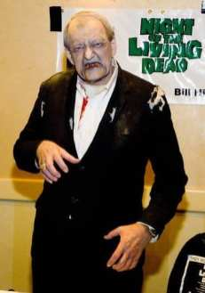 Bill Hinzman in full Night of the Living Dead Style Ghoul Zombie Make-up at a convention