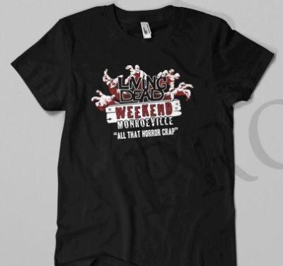 Living Dead Weekend Horror Crap Shirt & Enamel Pin Combo