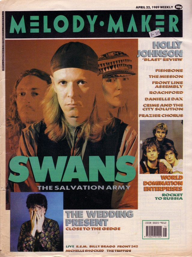 the-swans-on-the-cover-of-melody-maker-22nd-april-1989