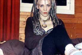 Sawmill Studios, Cornwall, England. photo of Jarboe by Michael Gira