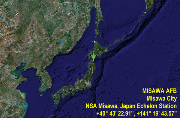 ECHELON Japan Code Name Ladylove - Us air force bases in japan map
