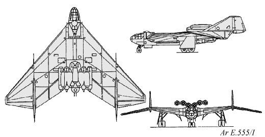 Arado Ar E.555 series Luft '46 entry