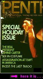 Cover of PENTHOUSE December 1977, containing the article INCEST: THE LAST TABOO by Philip Nobile