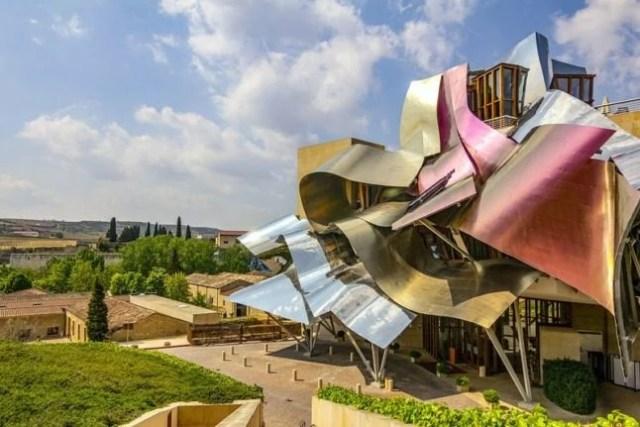 Viñedo Marqués de Riscal La Rioja, diseñado por Frank O. Gehry.