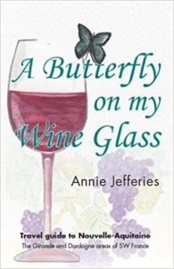 A Butterfly on my wine glass