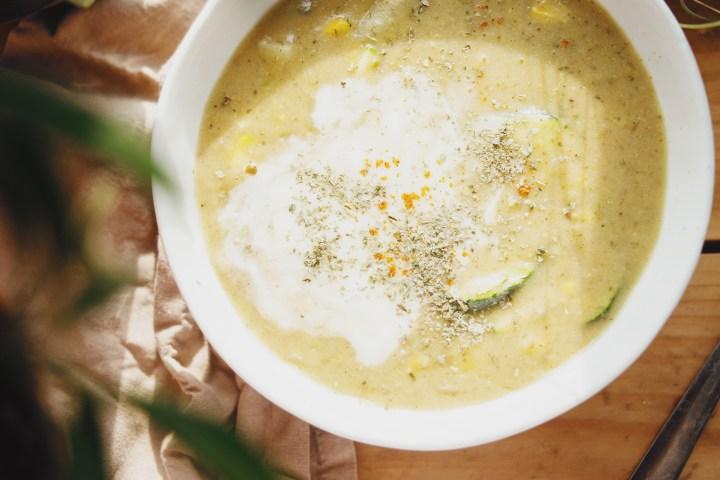 Healthy corn chowder