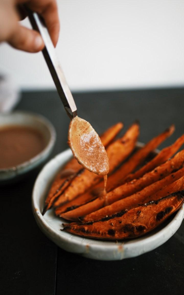 vegan sweet potato wedges