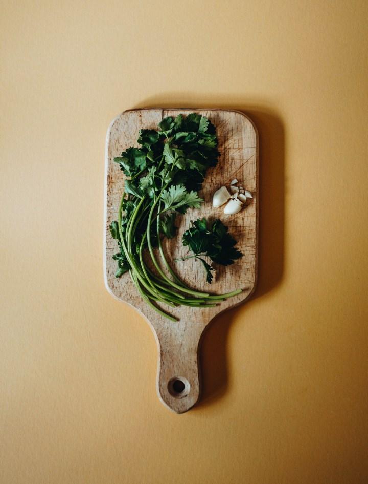 cilantro tofu