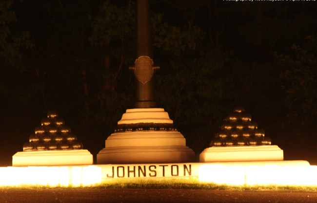 Luminaries at General Albert Sidney Johnston's Monument, April 7, 2012 Photograph by Newt Rayburn