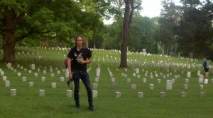 Newt Rayburn at Shiloh's National Cemetery. Photograph by Nature Humphries. © April 7, 2012.