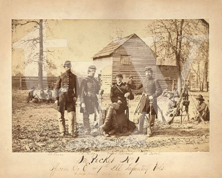 Union Officers in the 47th Illinois camped in Oxford, Mississippi in December of 1862.