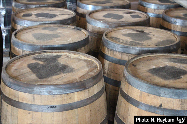 Whiskey barrels for aging special brews