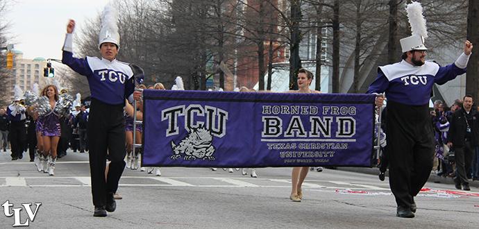 TCU band banner