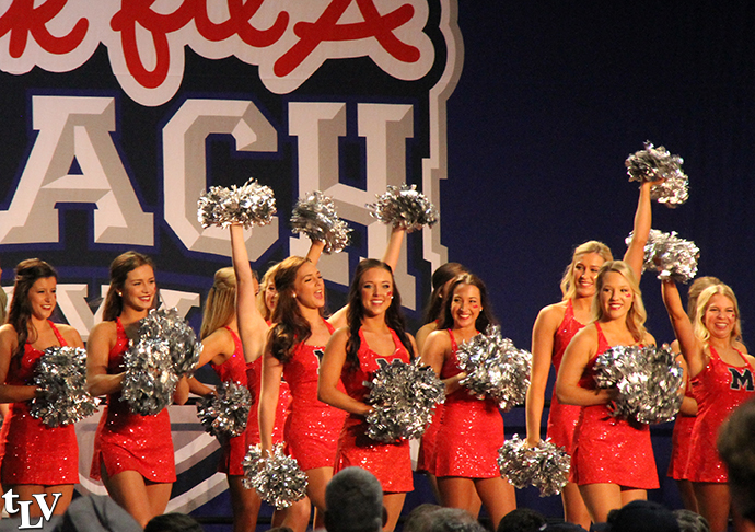 cheerleaders on stage