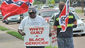 Anthony Hervey demonstrating in Oxford, Mississippi.