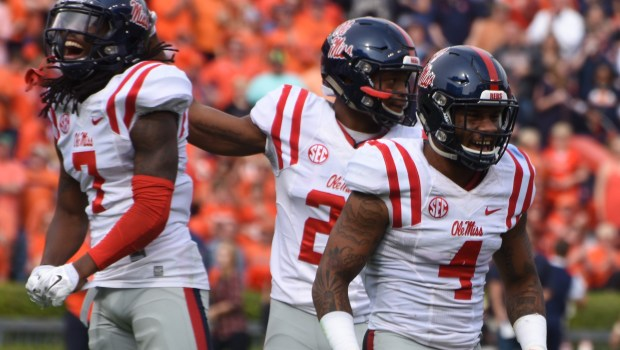 Ole Miss Rebels Landshark Defense. Photograph by Shelby Rayburn - The Local Voice.