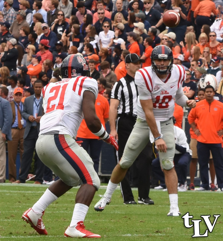 Ole Miss Quarterback Chad Kelly has been the key player for the Rebels in 2015. Photograph by Shelby Rayburn - © The Local Voice.