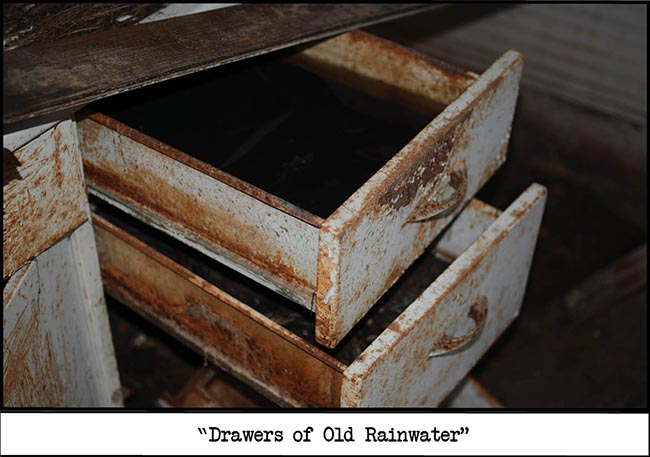 drawers of old rainwater