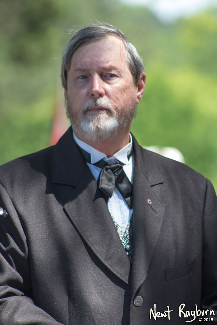 Wes Teel portraying Confederate President Jefferson Davis. Photograph by Newt Rayburn - © May 6, 2018.