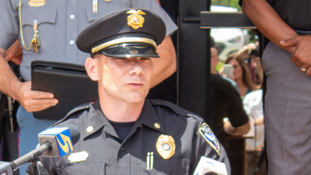 Interim Chief Jeff McCutchen of Oxford, Mississippi. Photograph by Newt Rayburn - The Local Voice.