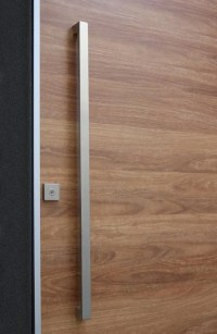 Matte Black Entry Pull Set - 1.2m long - ideal for pivot doors