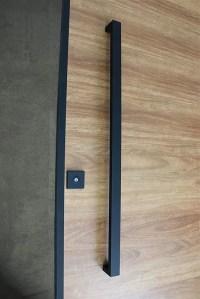 Matte Black Entry Pull Set - 1.2m long - ideal for pivot doors