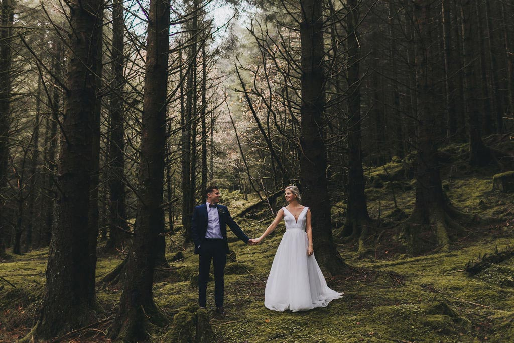 Small Wedding in Scottish forest