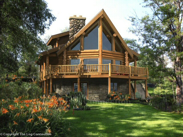 Fairmont Log Home Design By The Log Connection
