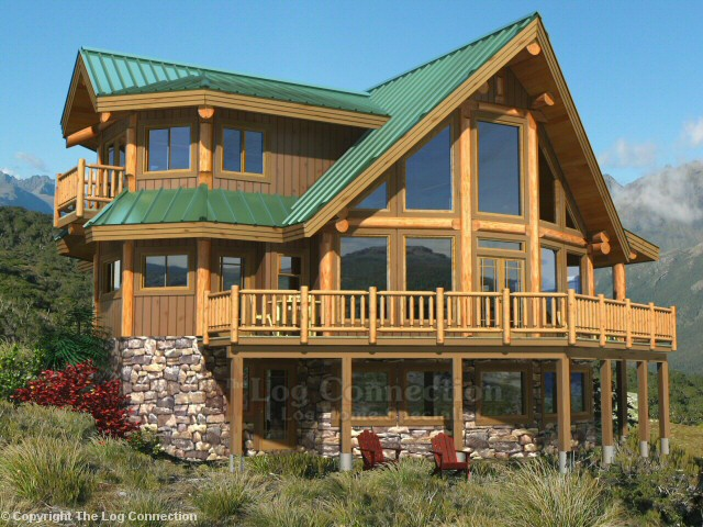 Saratoga Log Home Design By The Log Connection