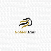 golden hair logo design