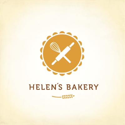 Cake Stand Logo Baking Logo Bakers Logo Bake Shop Logo Premade