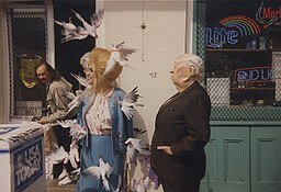 You know The Birds is part of the culture when the drag queens in New Orleans are satirizing it.   February 1989 via Wikimedia Commons