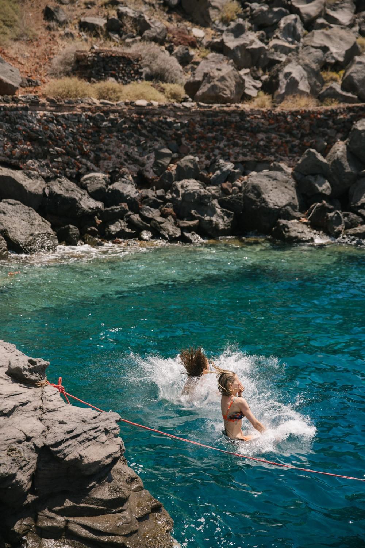 The Londoner Rock Jumping Santorini