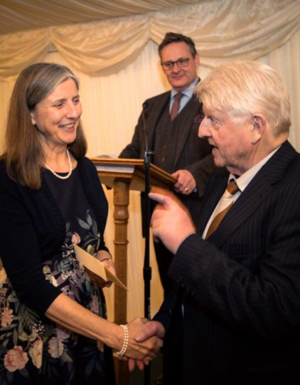 Anne O'Brien and Stanley Johnson