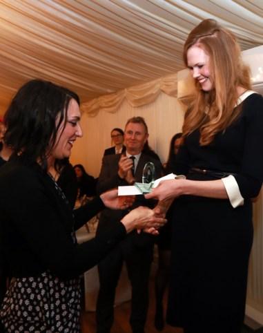 Daisy Dunn awarding the prizes