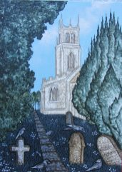Church with visiting Jackdaws (1)