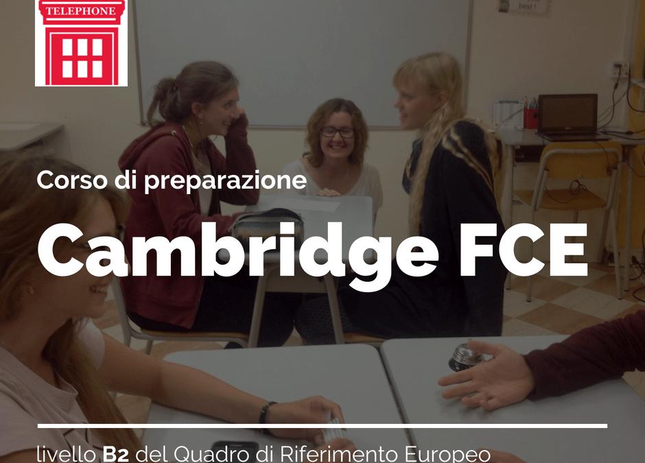 certificazione Cambridge FCE corso di preparazione