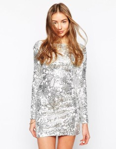 Club L Floral Sequin Bodycon Dress WAS £75 NOW £21