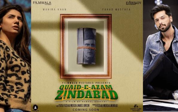 Mahira Khan & Fahad Mustafa Starrer Quaid-E-Azam Zindabad Poster Released