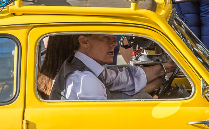 Tom Cruise Films A High Speed Action Scene In A Yellow Fiat 500 In Rome Mission Impossible 7
