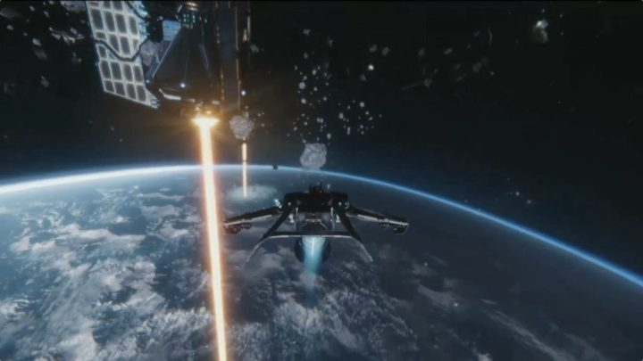 Fighting over a space station in a low planetary orbit is always a cool thing!