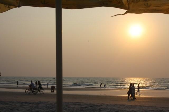 View of Benaulium Beach Goa Holiday trip
