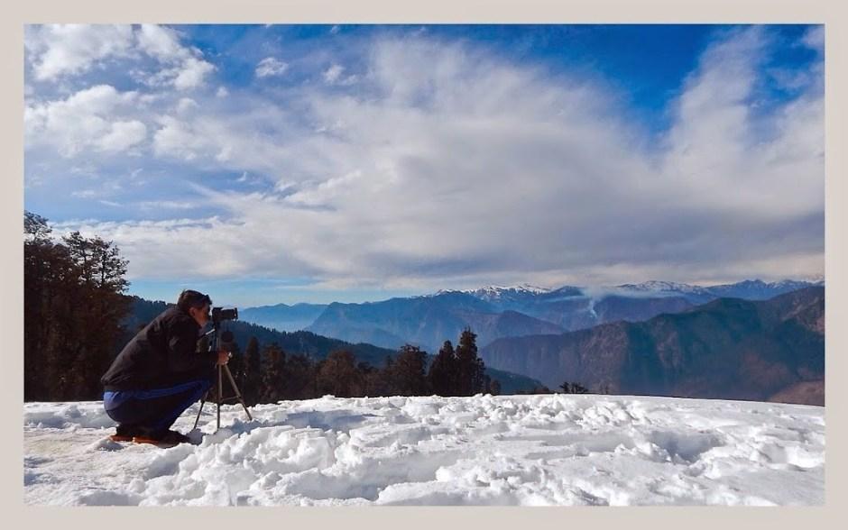 photo shoot at kedarkantha base camp