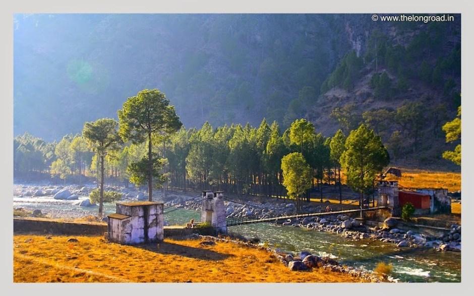 View of River Tons, Uttarakhand, India during Kedarkantha trip