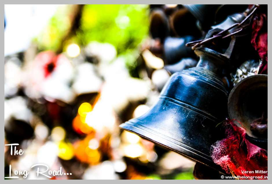 Black Bells hung at temples of Himalaya . Kumaon uttarakhand region India