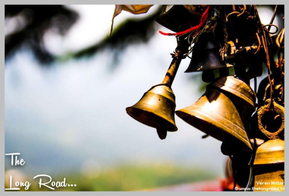 Bells hung at temples of Himalaya . Kumaon uttarakhand region India