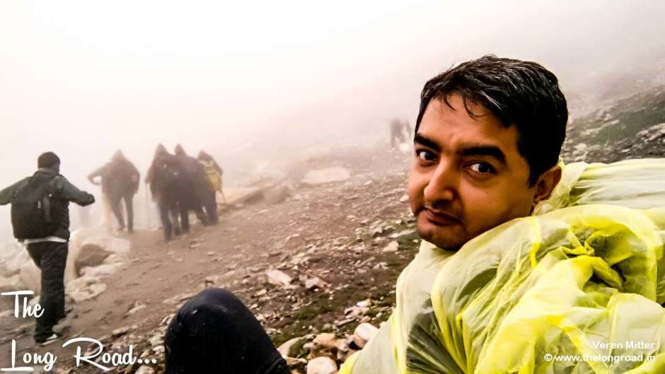 Catching up the breath Enroute to Pissu ghati, Amarnath.