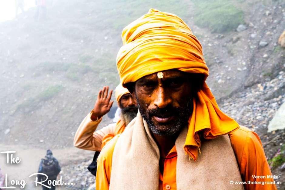 Har har mahadev. Amarnath pilgrim.
