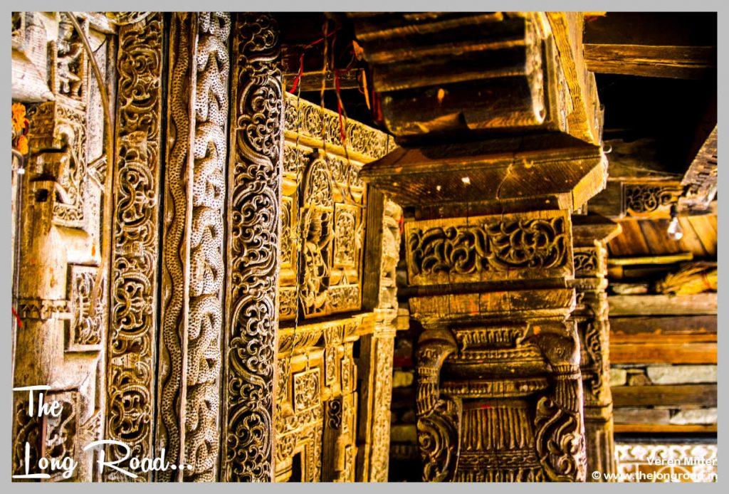 Prashar Temple wooden carvings